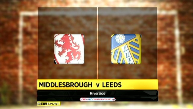 Middlesbrough 1-2 Leeds United