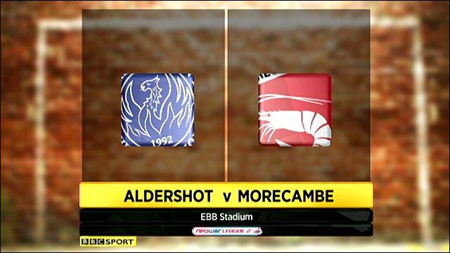 Aldershot 2-1 Morecambe