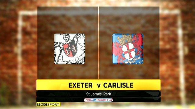 Exeter 2-1 Carlisle