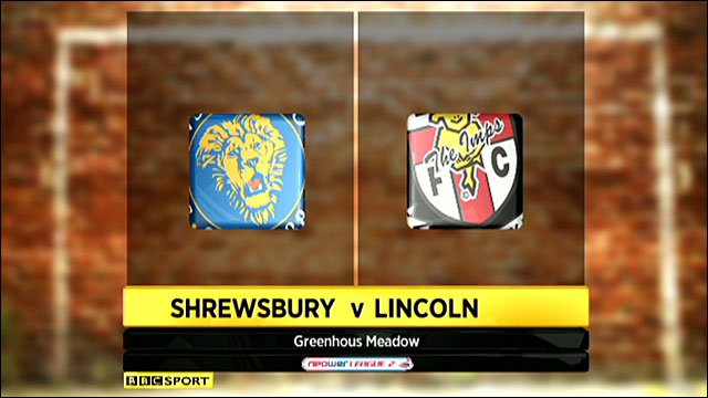 Shrewsbury 2-0 Lincoln City