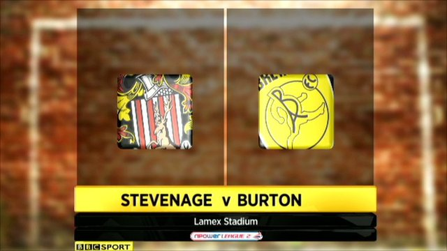 Stevenage v Burton Albion