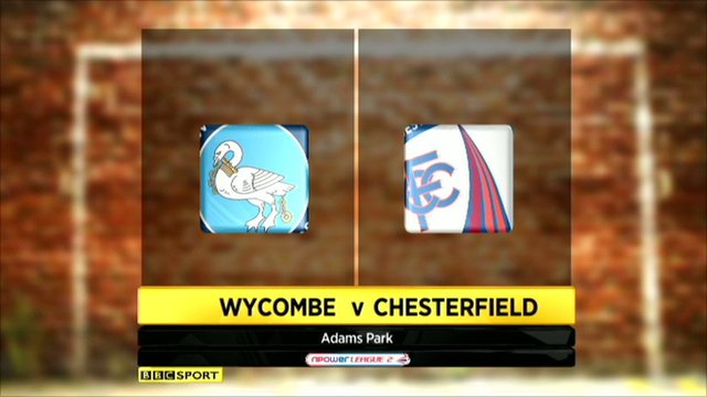 Wycombe v Chesterfield
