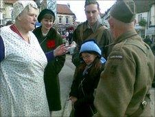 Wartime re-enactors