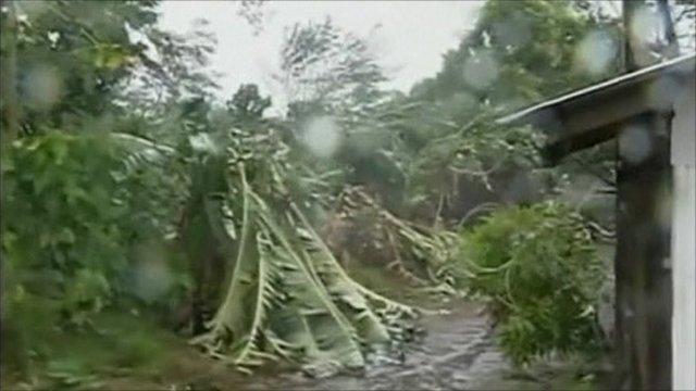 Philippines hit by typhoon Megi