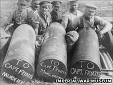 Soldiers with bombs