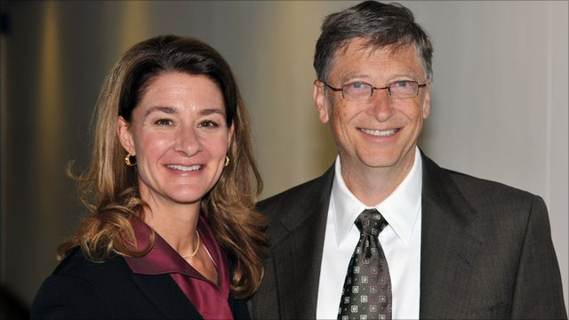 Melinda Gates with cool, Husband