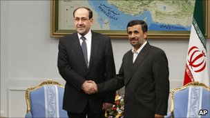 Nouri Maliki and Mahmoud Ahmadinejad