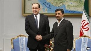 Nouri Maliki and Mahmoud Ahmadinejad