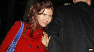 Anna Chapman, one of the 10 Russian spies deported from the US. File photo