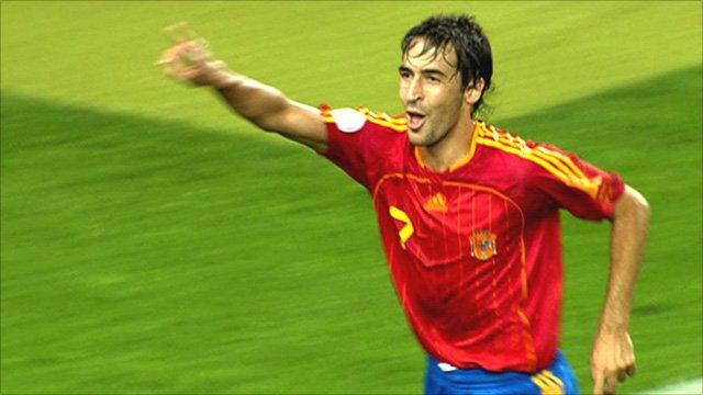Spain striker Raul