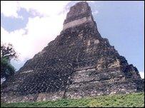 Mayan temple at Tikal, Guatemala