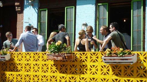 A balcony at Miss Favela