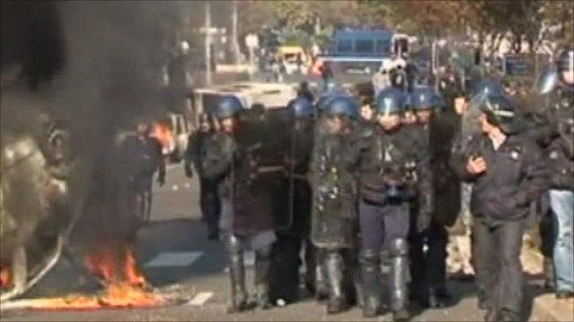 Riot police in France
