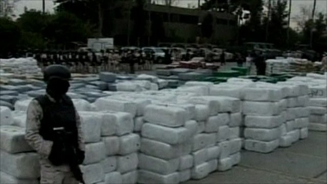 The drugs were found wrapped in 10,000 packages