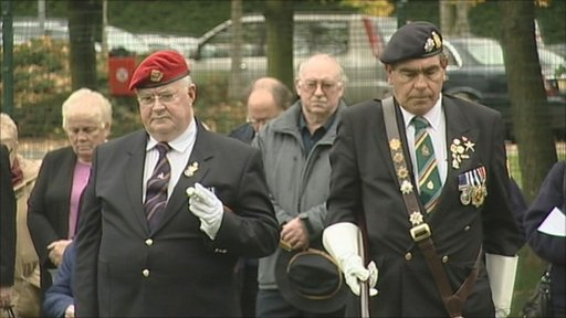 Memorial service on Whitley Common