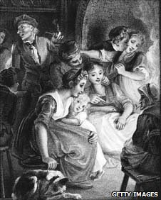 An illustration of a Halloween gathering in Scotland, 1780s (Getty)