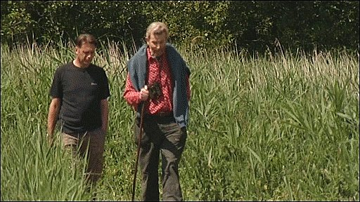 Wildlife enthusiasts Chris Packham (left) and David Cobham