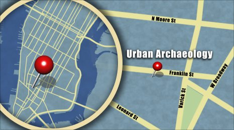 Map shows the location of Urban Archaeology