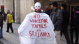 Pro-Tamil protester in London on 19 October 2010