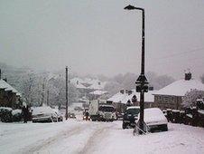 Snow in Sheffield, January 2010