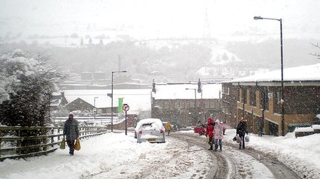 Stocksbridge in the snow
