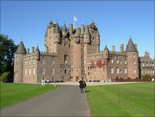 Exterior of Glamis Castle