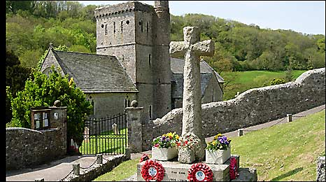 World War I memorial at Branscombe. Picture courtesy of Todd Gray
