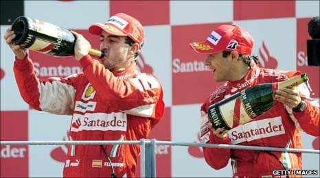 Ferrari duo Fernando Alonso and Felipe Massa