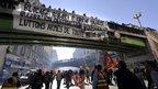Strikers in Marseille