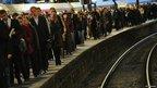 Commuters at Paris Saint-Lazare railway station