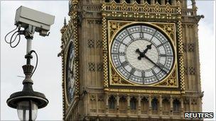 Security camera in Parliament Square