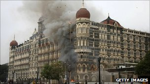 The Taj Mahal hotel, Mumbai, November 29, 2008
