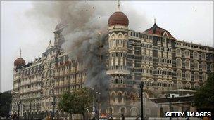 The Taj Mahal hotel, Mumbai, November 29, 2008
