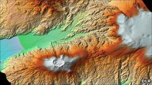 Eyjafjallajoekull volcano (DLR)