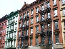Residential buildings in Manhattan