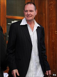 Paul Gascoigne outside Newcastle Magistrates Court