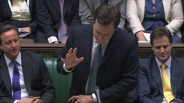 Chancellor George Osborne announces the Spending Review to Parliament