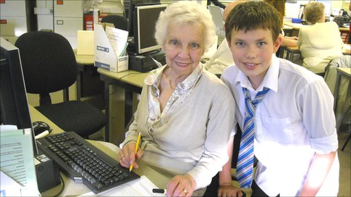 School Reporters helped their grandparents learn how to get online