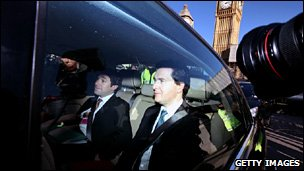 George Osborne leaves the House of Commons