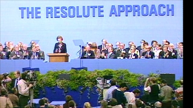 Margaret Thatcher at 1982 party conference