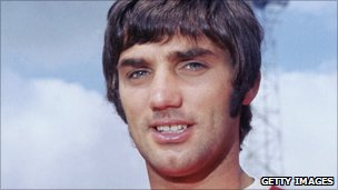 George Best, pictured in 1968