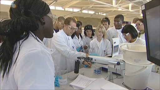 Science students at London Metropolitan University