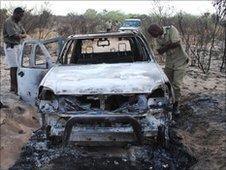 Jonah Fisher's burnt car