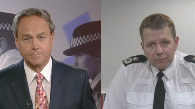 BBC Points West's Chris Vacher interviews Tony Melville, Chief Constable of Gloucestershire Police