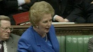 Thatcher in Commons