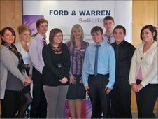 Sheree Wraith (centre) with some of the firm's apprentices