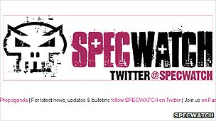 Screengrab of the Specwatch website