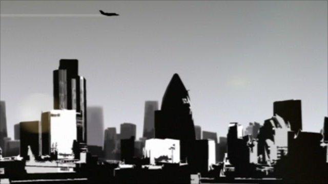 City scene graphic