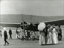 Monoplane at Filey