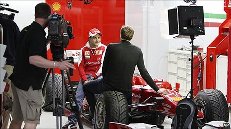 Felipe Massa and Jake Humphrey